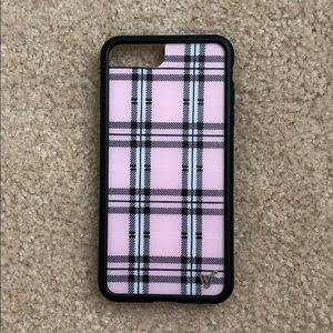 Wildflower iPhone 6+/ 6s+/ 7+ case pink plaid